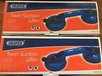 2 Draper Twin Suction Lifter - Charity Donation