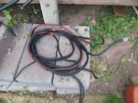 outboard battery cables x2