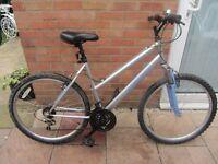 ladies apollo mountain bike 20 inch frame with bike lock £45.00