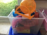 Hamster cages, tubes, bit and pieces
