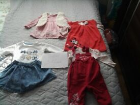 Baby girl clothes , all , some clothes was worn ones and all clothes was baying new