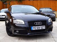 2009 AUDI A3 1.9 TDI e 5DR ***BLACK EDITION REPLICA, LEATHER*** **** s line leon golf gtd 1.6 2.0 s3