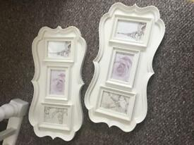 Cream photo frames
