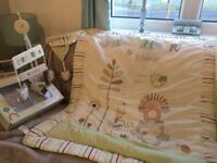 Nursery curtains, quilt , cot mobile & extras