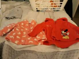 Girls 3-6 month Mothercare fleeces