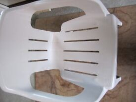 Oasis white plastic chair in excellent condition.