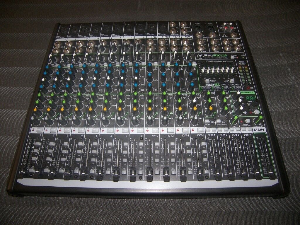 Mackie Profx16 V2 Professional Mixer Usb Recording Interface With 6 Input Setup Via Mac Or Pc