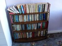 Solid Wood 1950's short book case. Stylish slimline retro book case