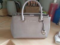 Michael kors genuine light grey handbag