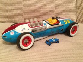 Vintage Masudaya TM Modern Toys Tinplate Racing Car