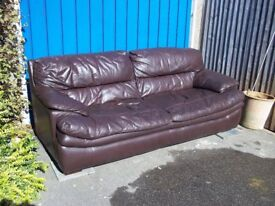 This is a brown leather sofa VGC, my Daughter just needs a new home got it.