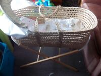moses basket and stand, baby gym and baby twist and play