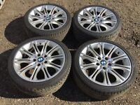 "BMW 3 series mv2 18"" alloy wheels - good excellent tyres"