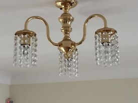 2 x Lead Crystal Light Fittings