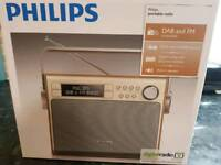 Philips Radio (AE5020) Portable with DAB+ (Digital, battery or mains operation, program counter)