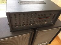 P A System TOA 6 channel mixer amp 300w complete with pair of Laney speakers