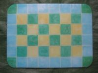 Mosaic Style Coloured Glass Chopping Board/Cooling Tray for £4.00