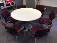 TABLE AND 6 X CHAIRS - HI QUALITY SOLD SEPERATELY - WE CAN DELIVER