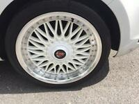 Axe EX10 18inch Alloy Wheels 5x112 5 Stud VW/Audi with Yokohoma Tyres Excellent Condition