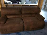 Brown Suede fabric sofa