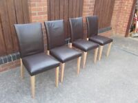6 x dinning chairs free of charge , someone may want these?