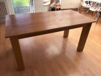 Oak veneer dining table 6 seater from Harveys