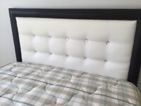 4ft small double bed + headboard