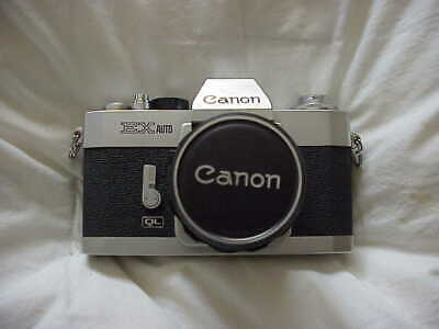 CANON EXauto 35MM SLR, 50MM LENS F 1:1.8 MADE IN JAPAN, NICE