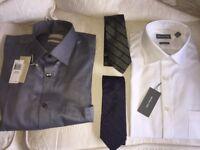 **2 Brand New Large Men's Michael Kors Shirts & 2 Brand New Calvin Klein Ties**