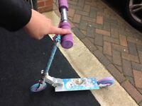 Little girls frozen scooter