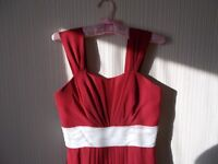 Wine Red bridesmaid dress, size 10-12