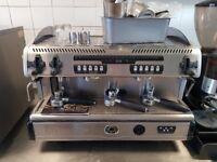 2 group coffee machine and grinder