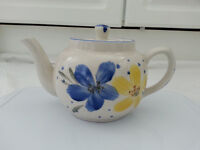 Tea set, Blue and Yellow Flower Design, Nine Piece, BNIB