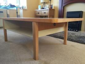 Contemporary beechwood coffee table