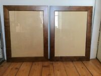 2 x Large Habitat Walnut Wooden Picture Frames with bevelled detail