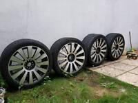 "Audi VW 19"" alloys wheels with tyres"
