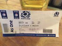 Scotland vs Wales tomorrow 25th feb