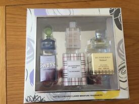 LADIES SET OF 3 MINIATURE PERFUMES. BRAND NEW UNOPENED