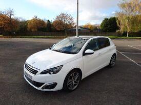 Peugeot 308 Feline (top spec) 9 months Peugeot warranty 0 Tax