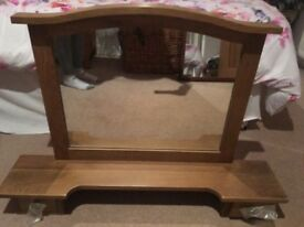 New oak wood dressing table mirror