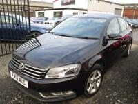 Volkswagen Passat 1.6 TDI Bluemotion Tech S 4dr + FULLY SERVICED + 1 YEAR MOT (black) 2012