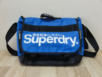 Superdry Laptop Messenger Tarp Blue Zip Bag