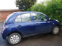 Nissan Micra 2004, petrol, manual, not running for spares or repair