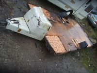 Caravan chassis / flatbed / advertising trailer project 6m long