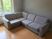 DFS Sofa L/Corner Light Grey Fabric