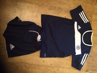 chelsea training shorts and shirt