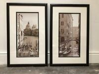 Large Sepia Venice Pictures (pair) from John Lewis