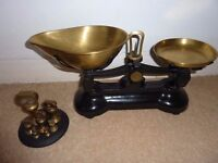Vintage England Libra scales with full imperial brass weights