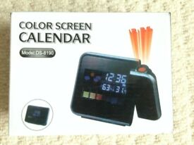 Color Screen & Projector: Calendar/Clock