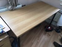 Large IKEA Desk: Table top with 4 legs.